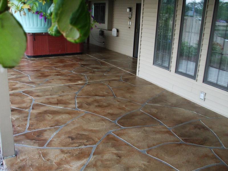 Flagstone Stamped Concrete Overlay | Coatesville Pennsylvania | Kleencrete Overlay Solutions