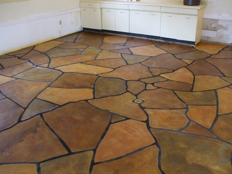 Flagstone Stamped Concrete Overlay | Honey Brook Pennsylvania | Kleencrete Overlay Solutions