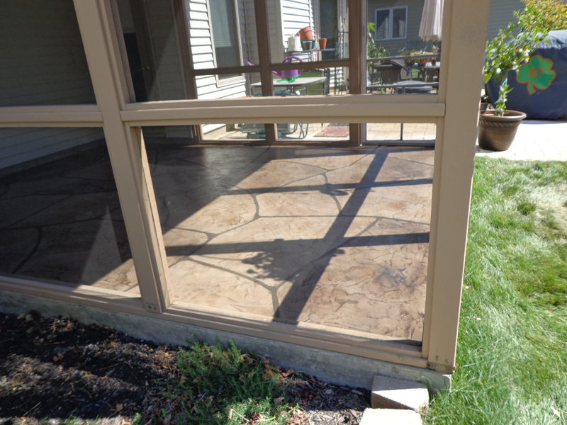 Flagstone Stamped Concrete Overlay | Honey Brooke Pennsylvania | Kleencrete Overlay Solutions