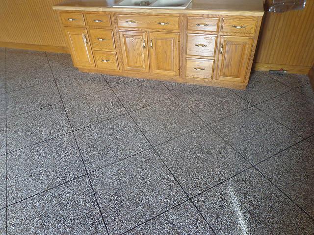 Flaked Tile Epoxy Flooring | Coatesville Pennsylvania | Kleencrete Overlay Solutions