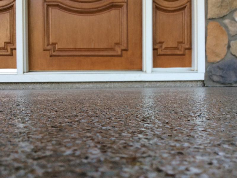 Flaked Epoxy Flooring | Coatesville Pennsylvania | Kleencrete Overlay Solutions