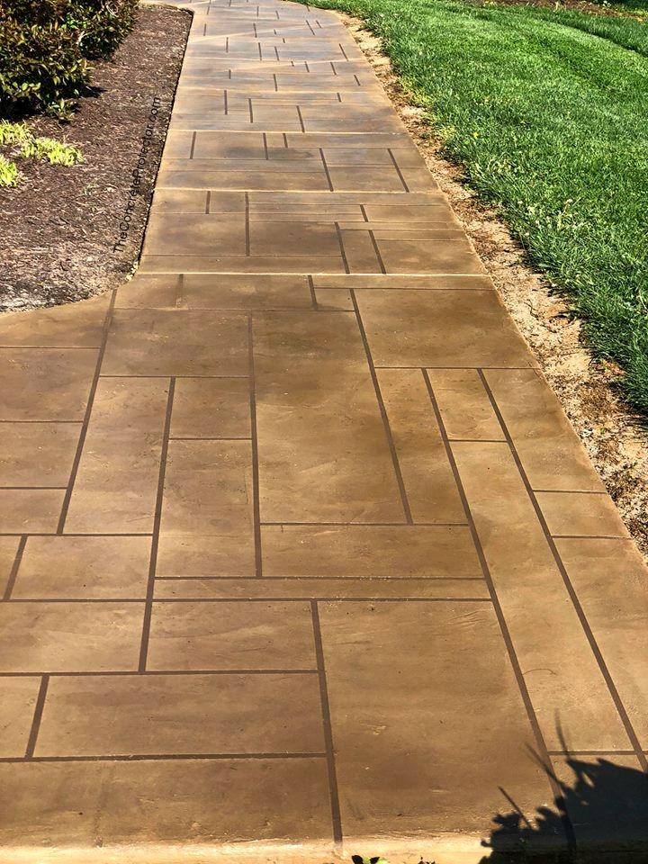 Stamped Concrete Overlay   Coatesville Pennsylvania   Kleencrete Overlay Solutions